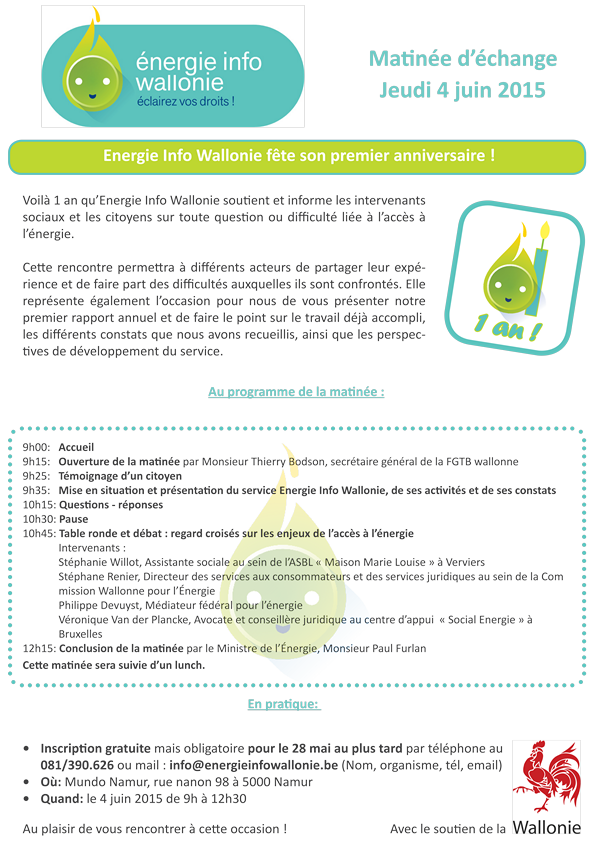 invitation Energie Info Wallonie 4 juin 2015 officielle haute rsolution